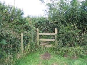 Over the stile and turn left