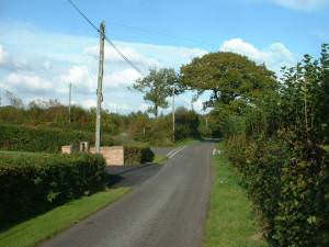 Crossroads at Rhos-fach