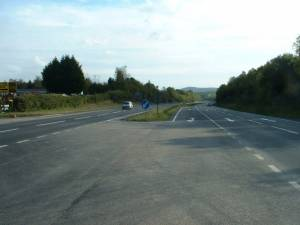 The A48 near New Lodge Farm