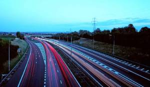 M25 looking towards Junction 25 with the A10