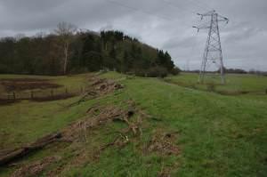 Flood bank near Clevelode Rough