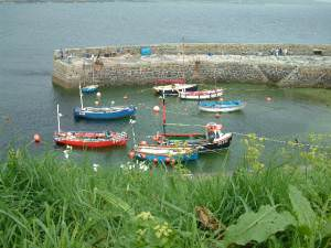 Coverack Harbour - Fishing boats
