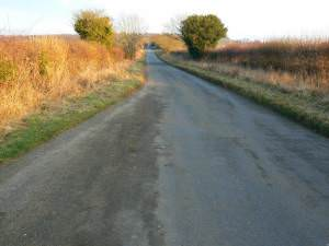 Minor road near Baunton