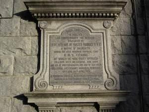 Memorial Tablet.