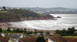 Rough seas, Broadsands bay