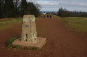 Trig point on Walton Hill