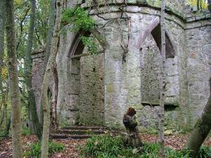 Old Tower in the woods at Glen Esk near Edzell