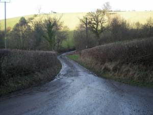 Lane to Bishops Castle