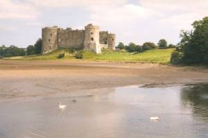 Carew Castle from the west