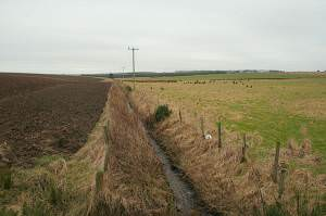 Southbound drainage ditch of Balthangie