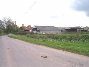 Blackford Mill Farm, near Pendock Cross.