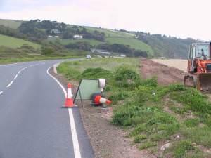 Road re alignment, Slapton