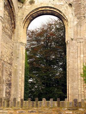 Through the Abbey Arch: Malmesbury