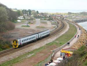 Railway line at Dawlish Warren