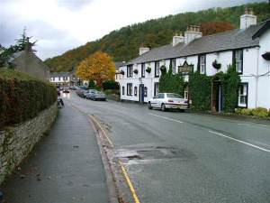 Pooley Bridge, View Towards the Lake From the Sun Inn