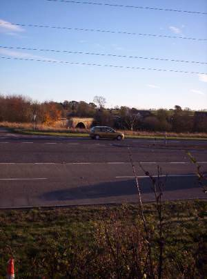 A90 with the old North Water Bridge in the background