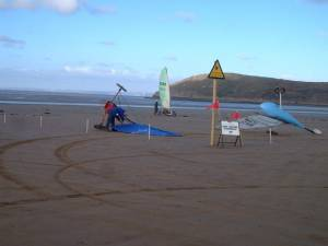 Sand yachts on Brean Sands