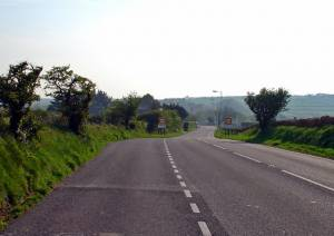 A487, West end of Sarnau village