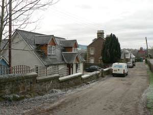 Houses on the edge of Crieff