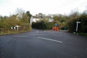 Whitecross Road/Village Road, Woodbury Salterton