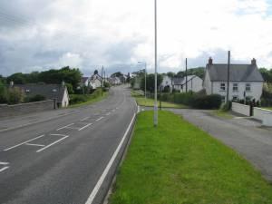 Sarnau along the A487 road