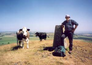 The trig point on Largo Law