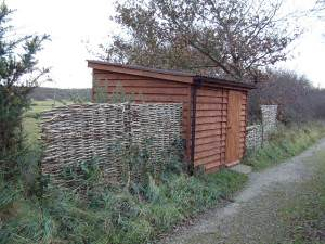 Bird Hide at Stoborough Heath