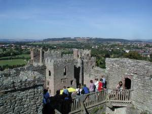 Looking towards California from Ludlow Castle