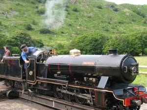 Turning the Train Around at Eskdale (Dalegarth) Station