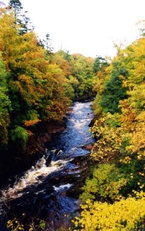 River North Esk at Gannochy Bridge
