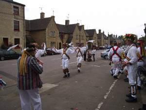 Wansford Main Street - Morris Dancers