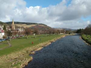 View from the Bridge in Peebles