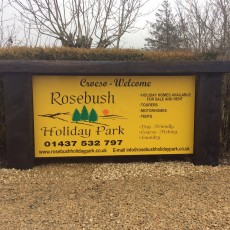 Rosebush Holiday Park Sign