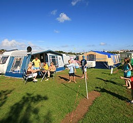 Trenance Holiday Park Pitch View