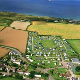 Gwithian Farm, Aerial View of Campsite