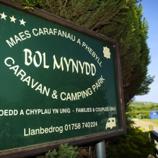 Bolmynyd Camping Park - Sign at Entrance