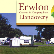 Erwlon Caravan and Camping site in Llandovery Wales