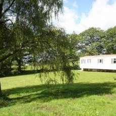 Typical static caravan pitch
