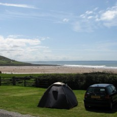Croyde Bay Campsite View