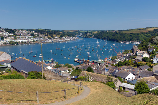 View of Fowey from Polran