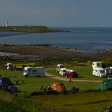Sealshore camping on Isle of Arran