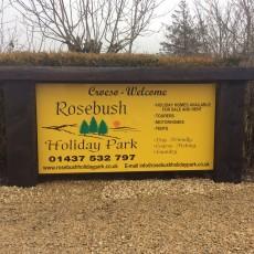 Rosebush Holiday Park Sign